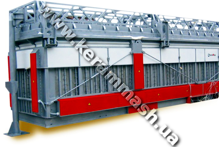Industrial pit-type furnace for heat treatment